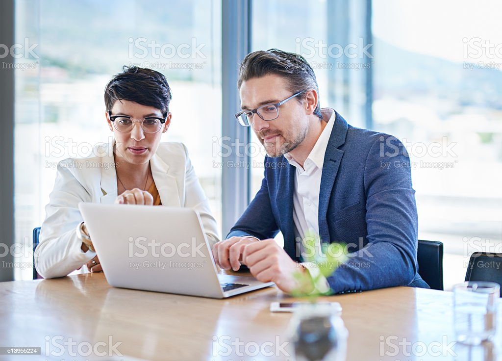 Building their business by improving on their online visibility stock photo