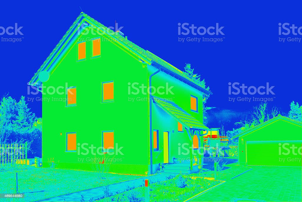 Building thermography stock photo