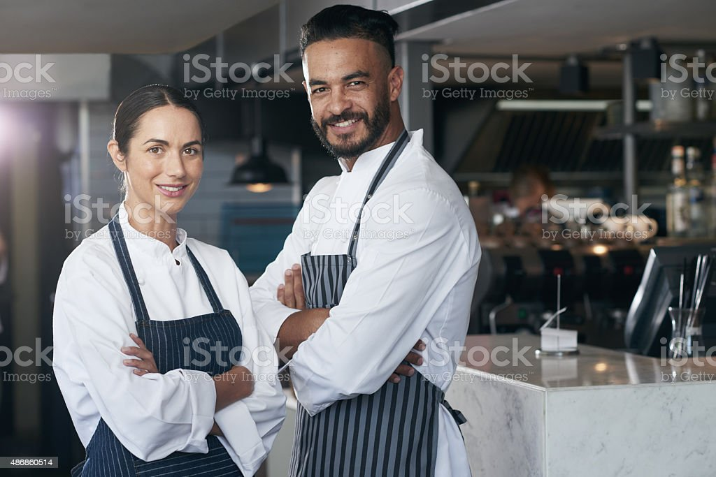 Building this restaurant together stock photo