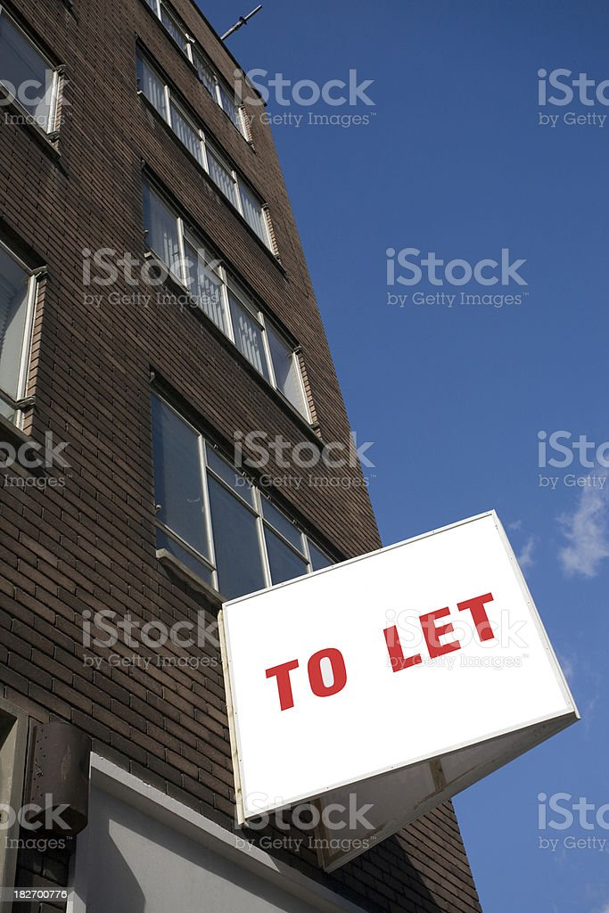 Building to let royalty-free stock photo