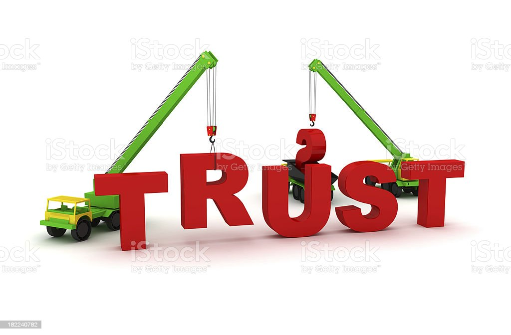 Building trust royalty-free stock photo