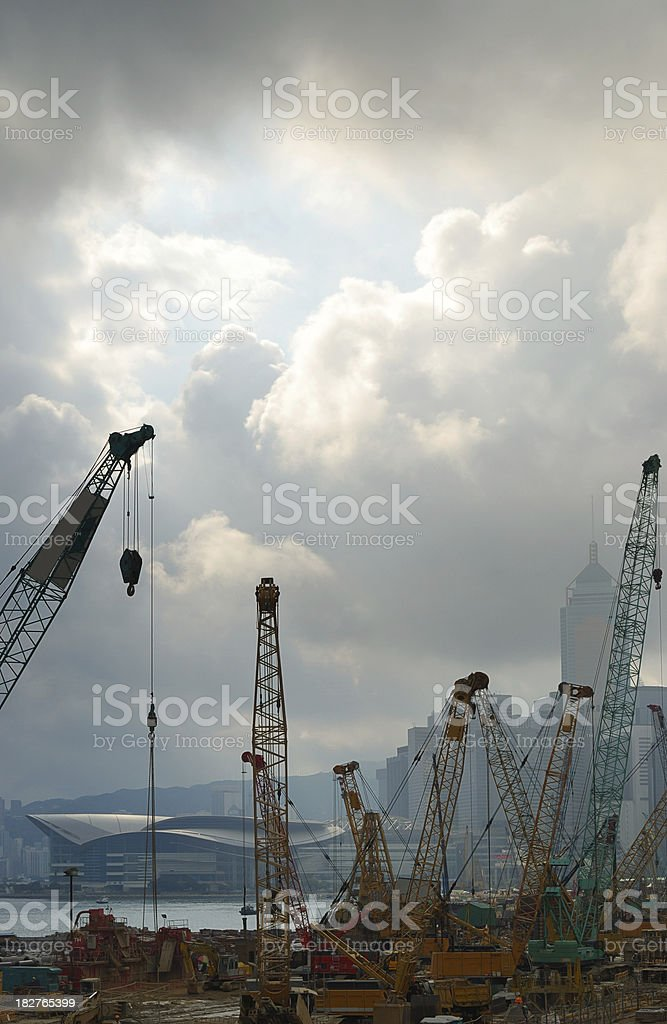 Building Under Construction in Hong Kong royalty-free stock photo