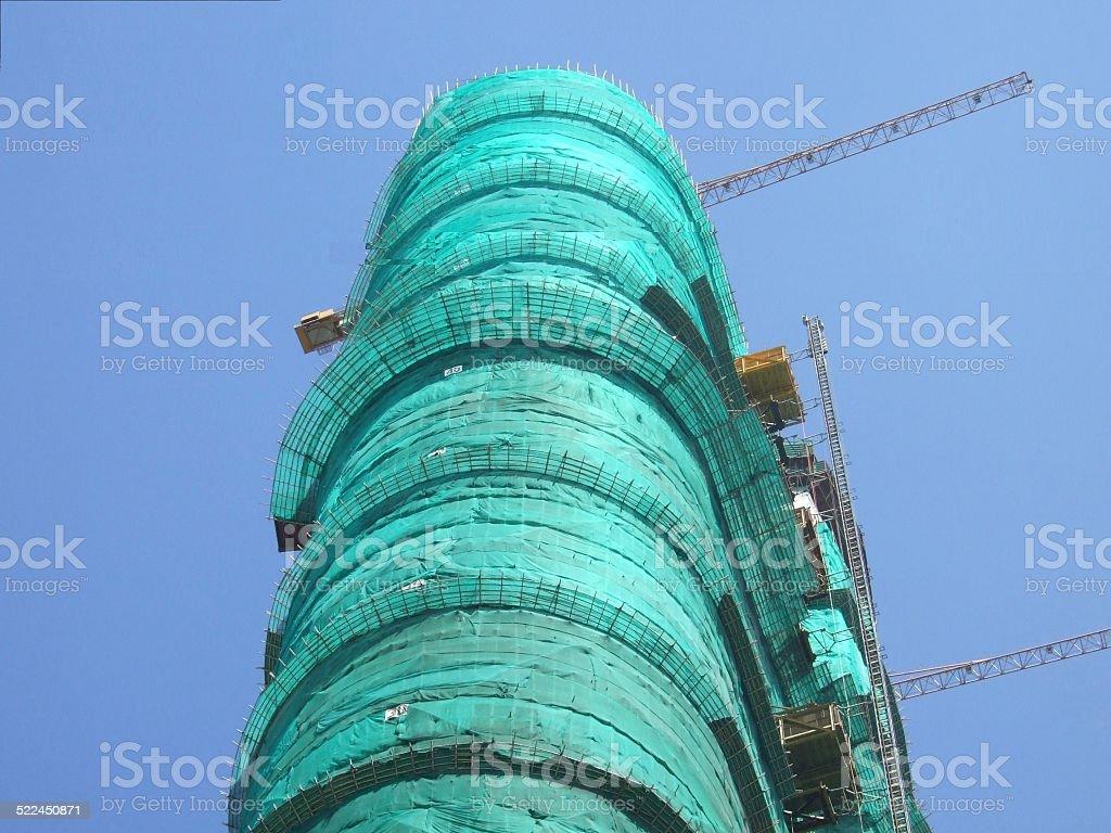 Edificio en construcción foto de stock libre de derechos
