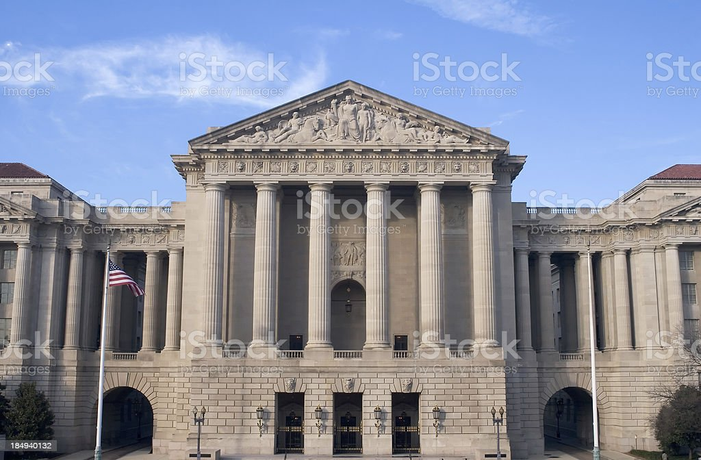 EPA Building Washington, DC royalty-free stock photo