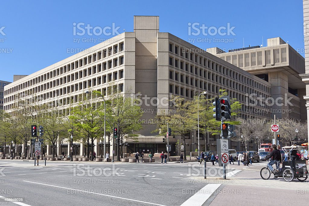 FBI Building, Washington DC stock photo