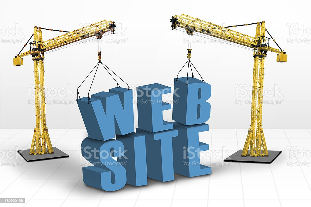 Building website concept royalty-free stock photo