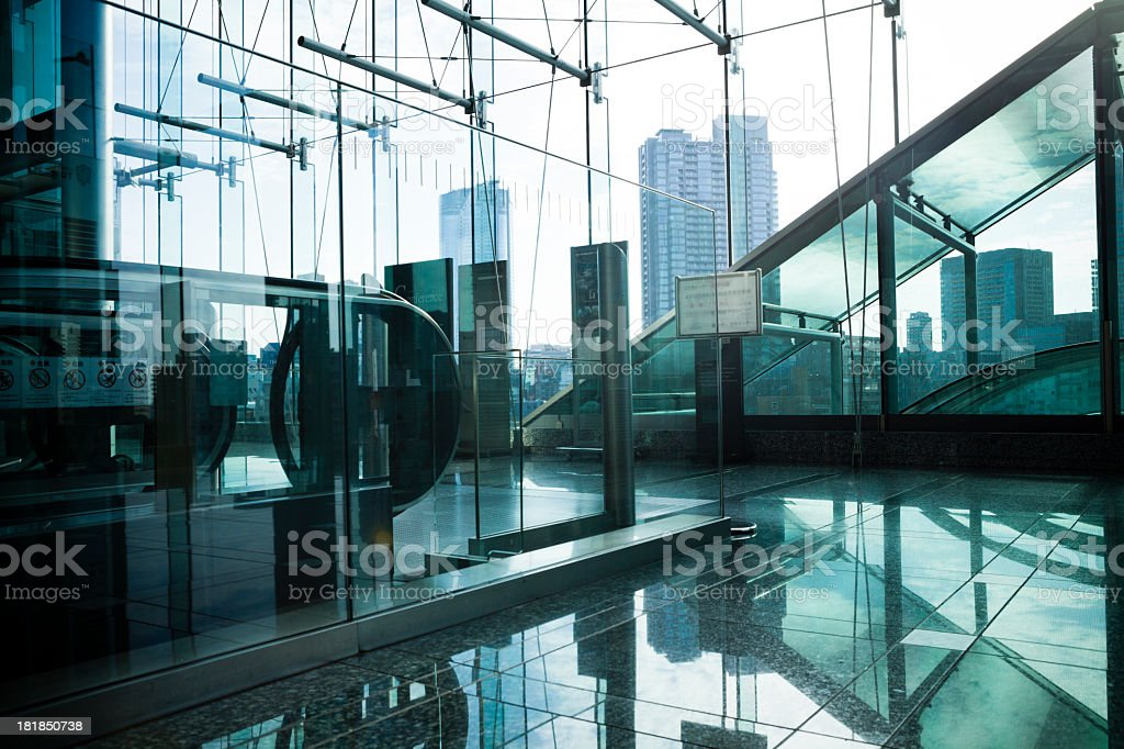 building where the light shines royalty-free stock photo
