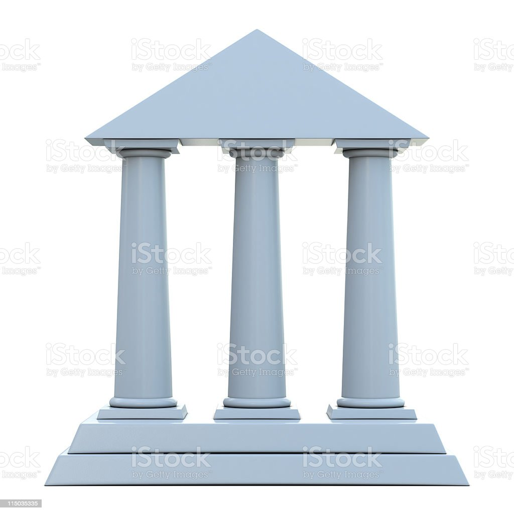 Building with 3 columns stock photo