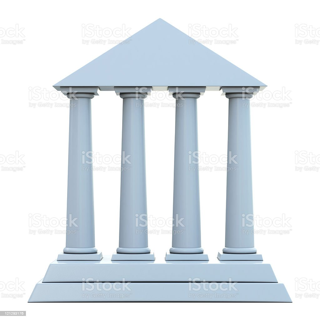 Building with 4 columns stock photo