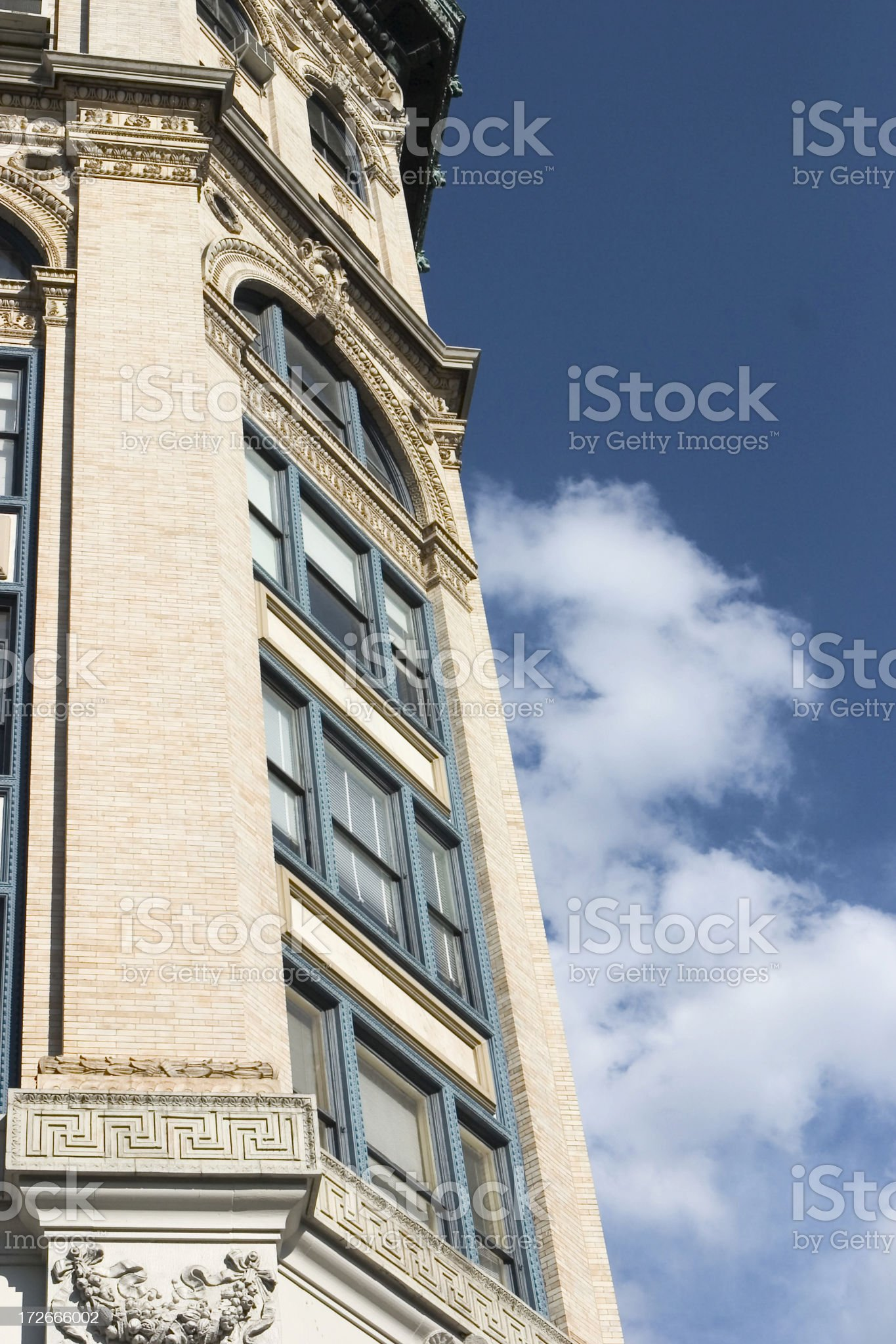 NYC Building with Cloud royalty-free stock photo