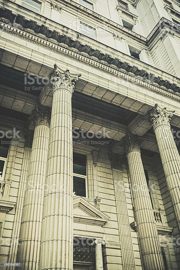 Building with columns royalty-free stock photo