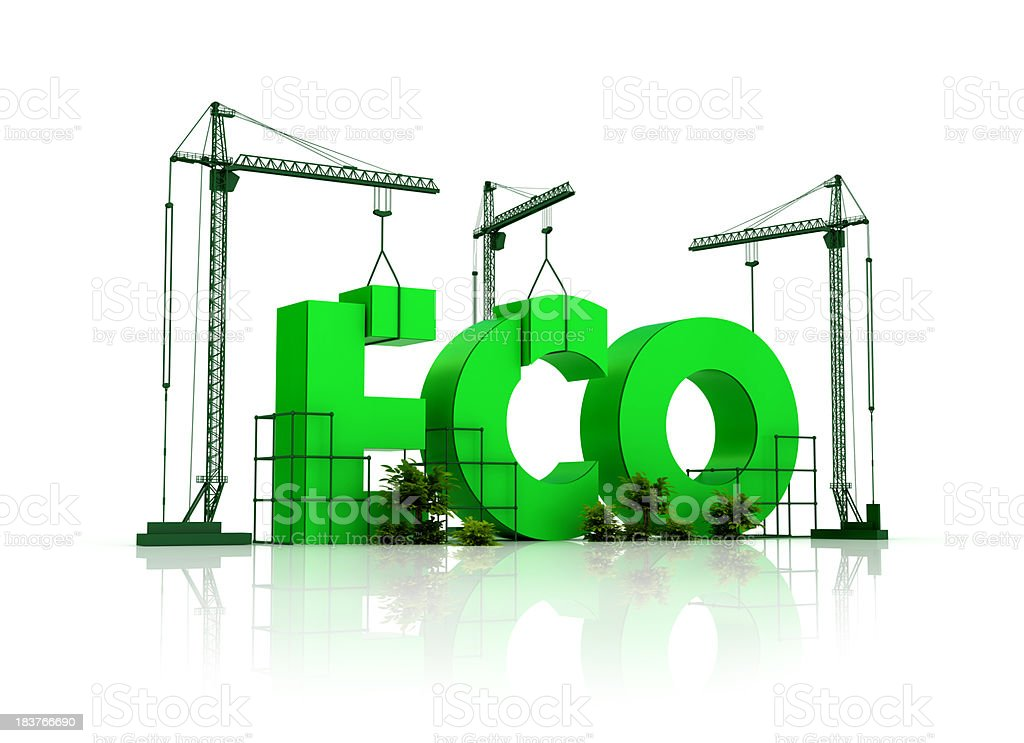 building with eco standards royalty-free stock photo