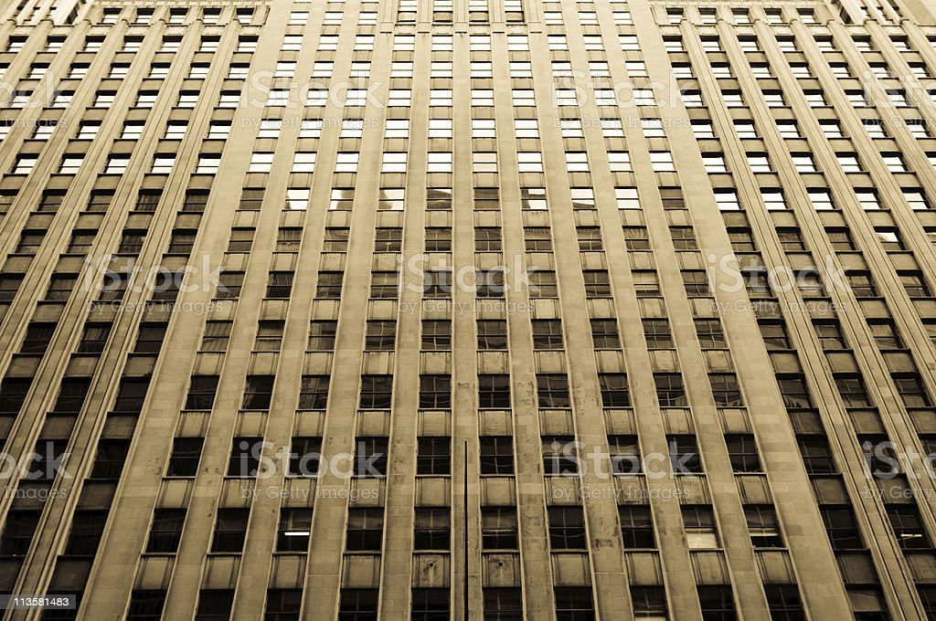 Building with many windows stock photo
