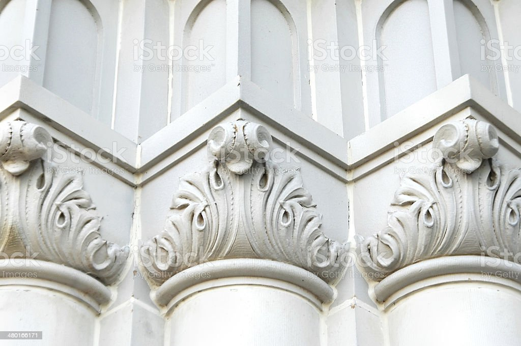 Building with Romanesque patterns stock photo