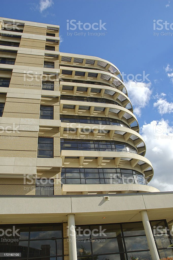 Building with round front 2 stock photo