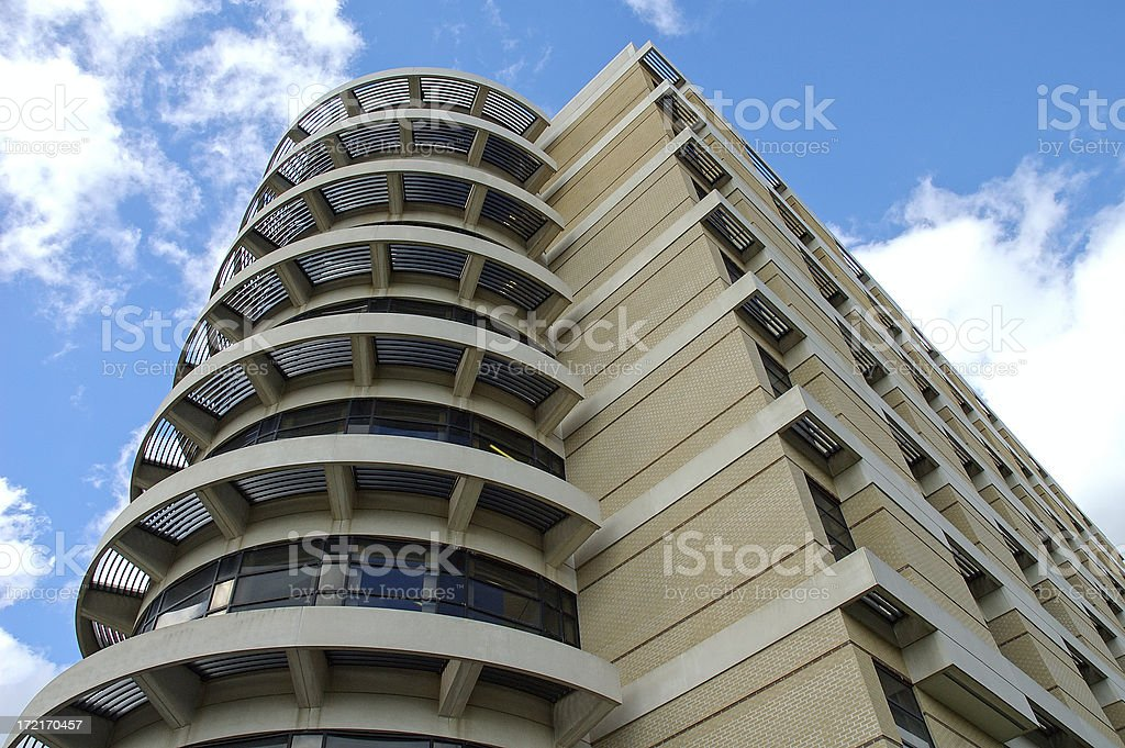 Building with round front stock photo