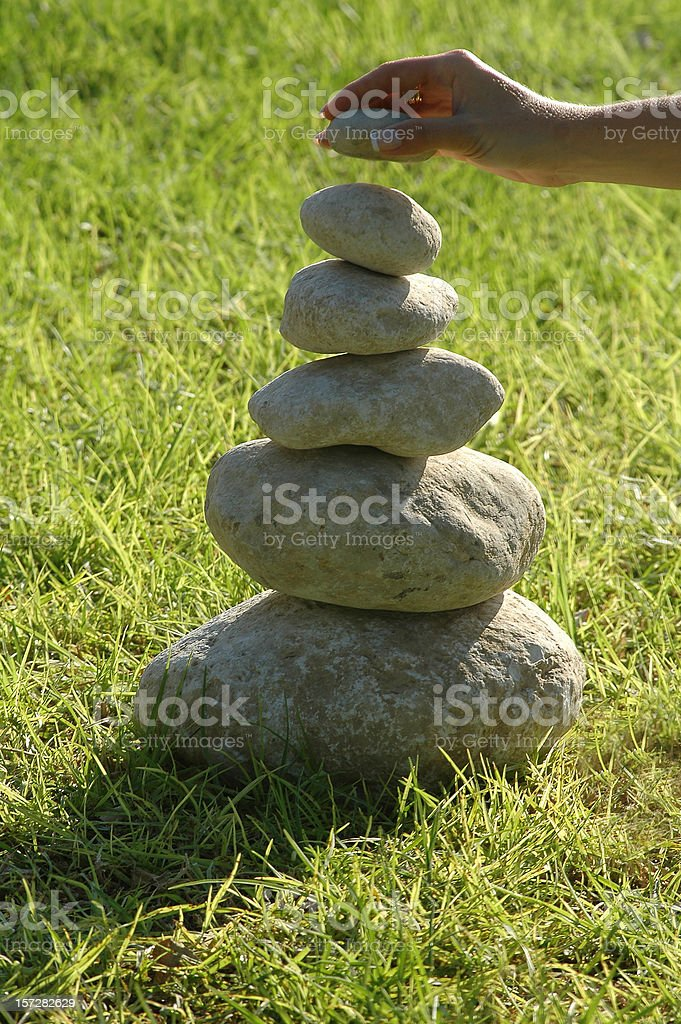 Building with stones royalty-free stock photo