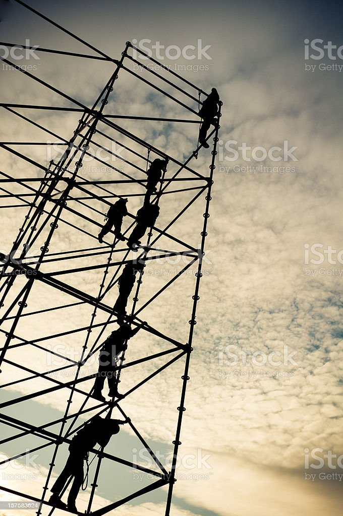 Building workers royalty-free stock photo