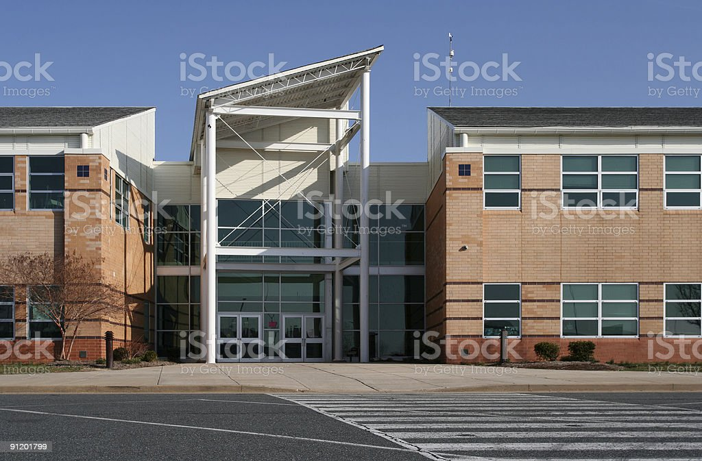 Building--office or school stock photo