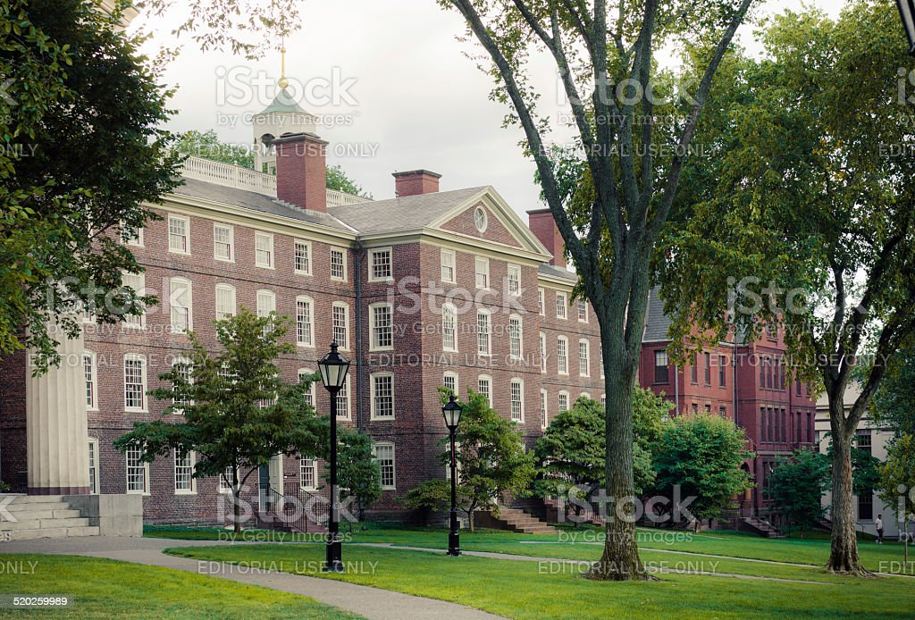 Buildings along Front Green at Brown University campus in Providence stock photo