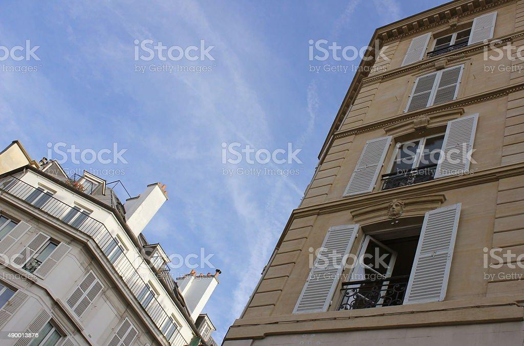 Buildings and sky in Paris, Saint Germain Des Pres stock photo