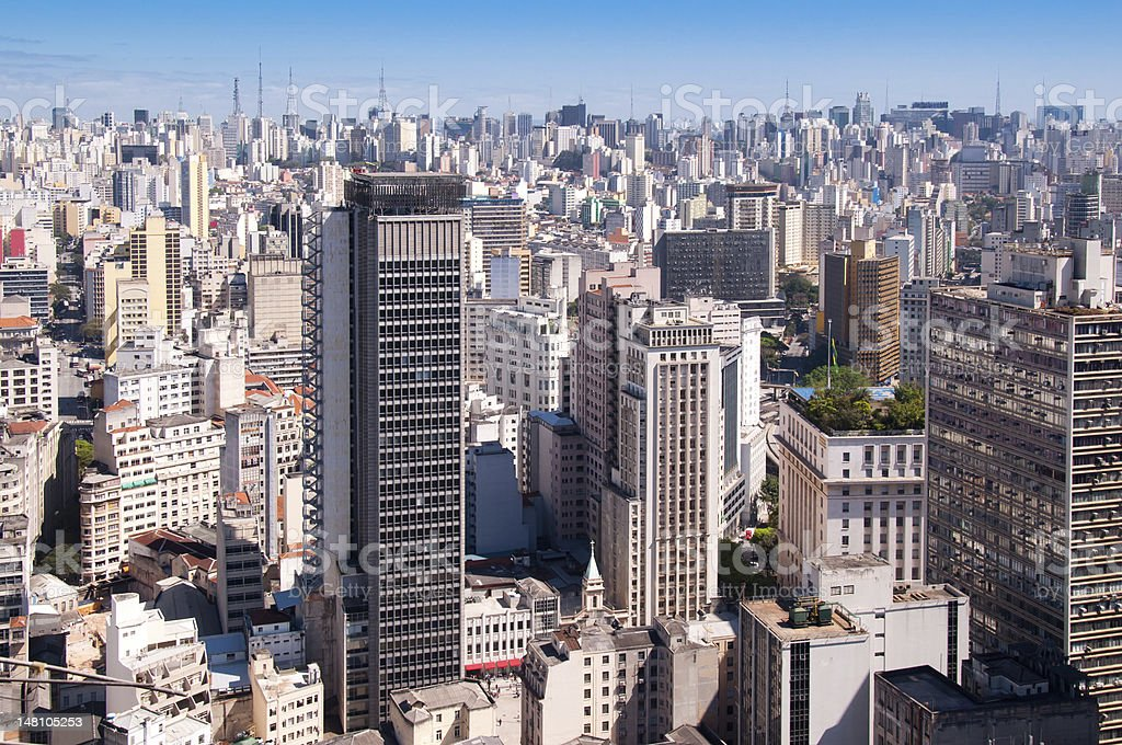 Buildings and skyscrapers from Sao Paulo city royalty-free stock photo