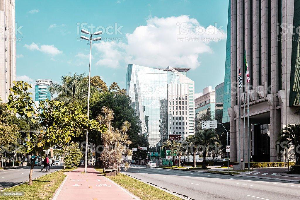 Buildings and Streets of Sao Paulo, Brazil (Brasil) stock photo