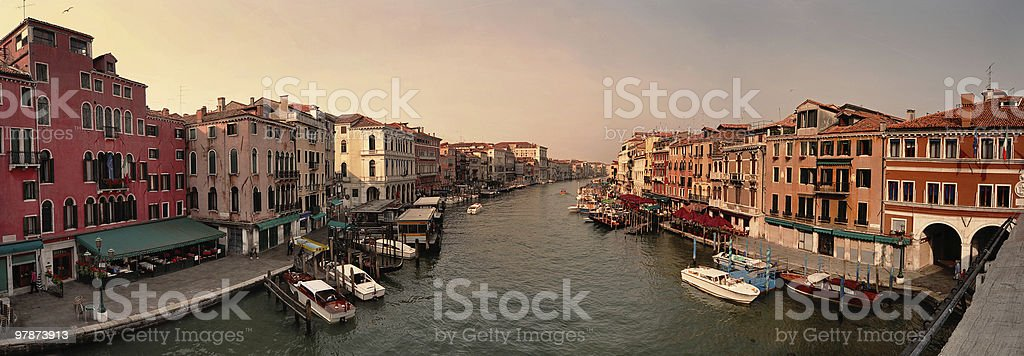 Buildings and water canal in Venice royalty-free stock photo