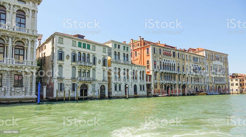 Buildings at Grand Canal Venice - Canale Grande Lizenzfreies stock-foto