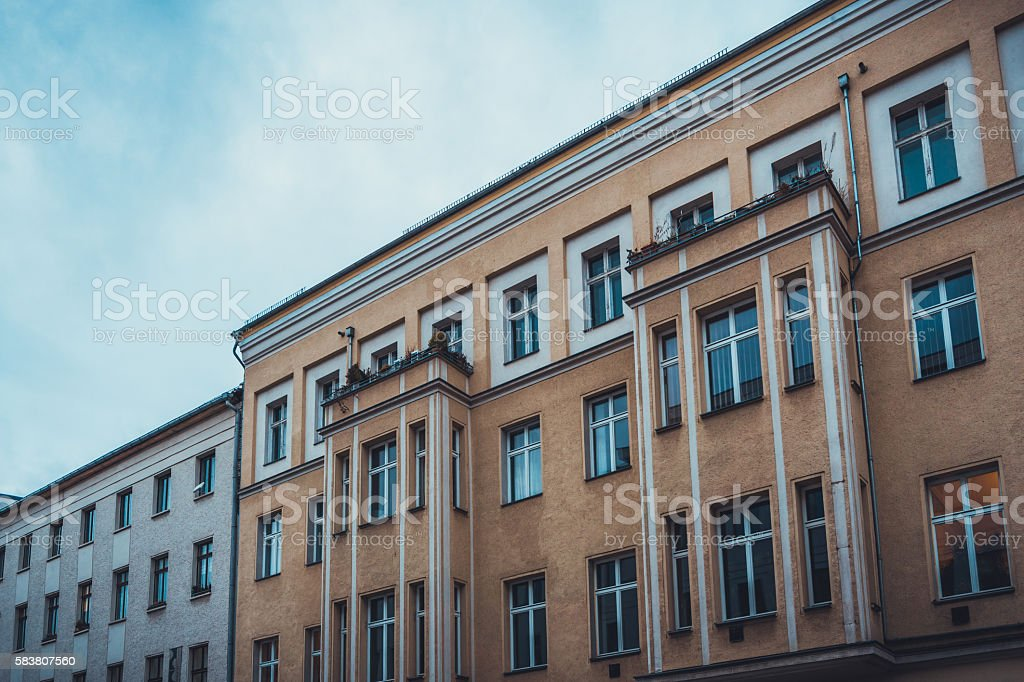 buildings at prenzlauer berg stock photo