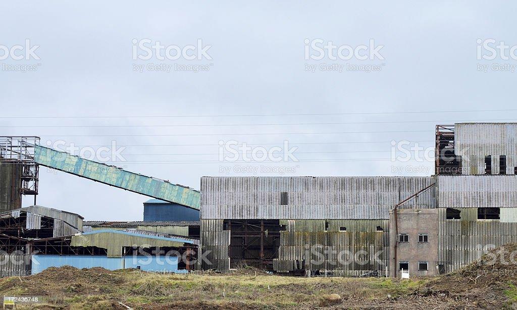 Buildings At South Crofty Tin Mine Cornwall UK stock photo