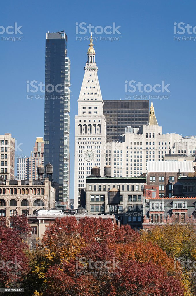 Buildings at the Union Square stock photo