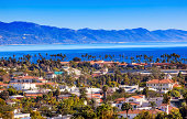 Buildings Coastline Pacific Ocean Santa Barbara California
