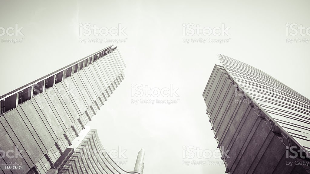 Buildings Exteriors Against Dramatic Sky stock photo
