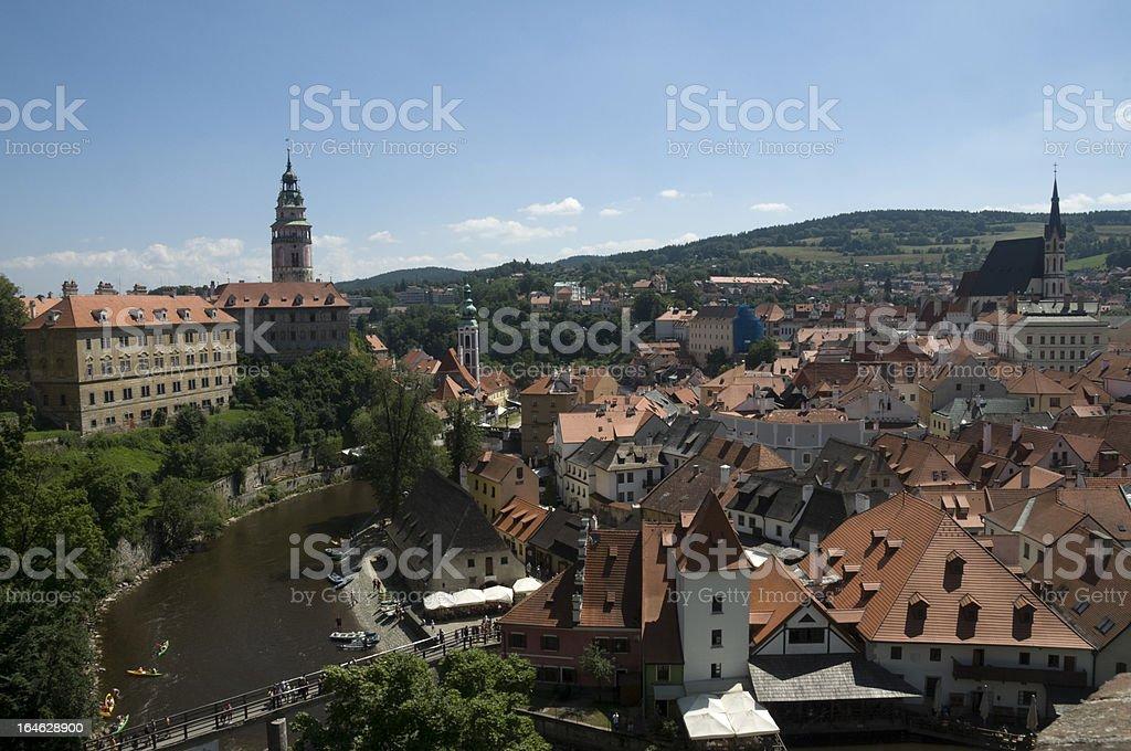 Buildings in a city, Cesky Krumlov, Czech Republic royalty-free stock photo