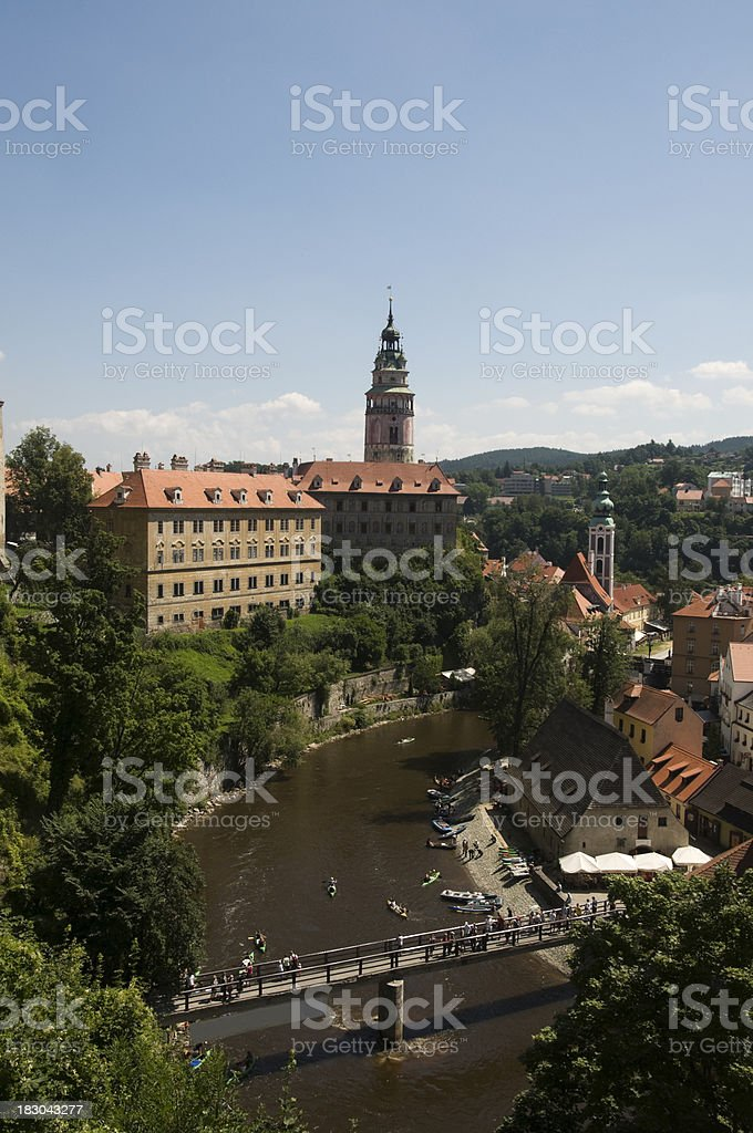 Buildings in a city, Cesky Krumlov, Czech Republic royalty-free stock photo