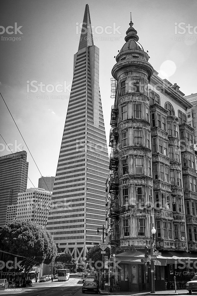Buildings in a city stock photo