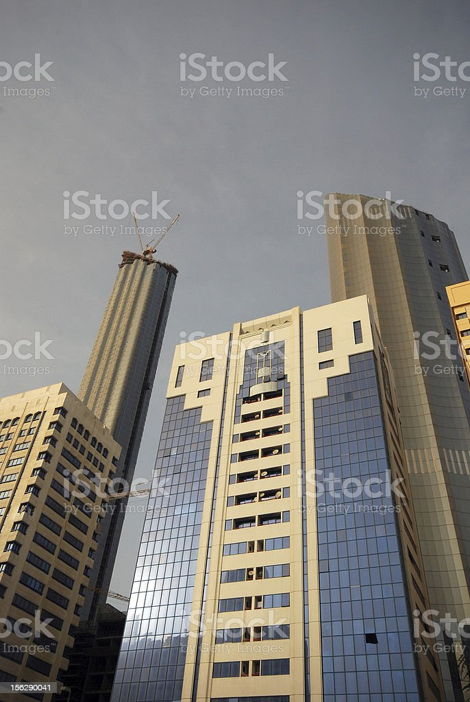 Buildings in Abu Dhabi royalty-free stock photo