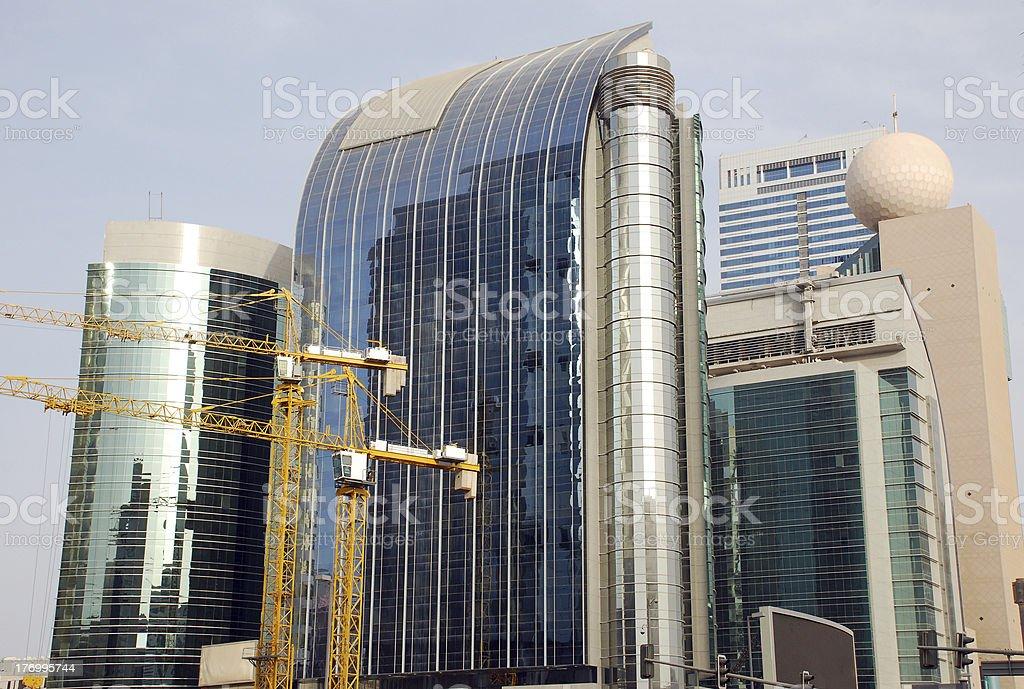 Buildings in Abu Dhabi royalty-free stock photo