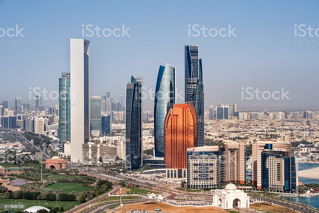 Buildings in Abu Dhabi stock photo