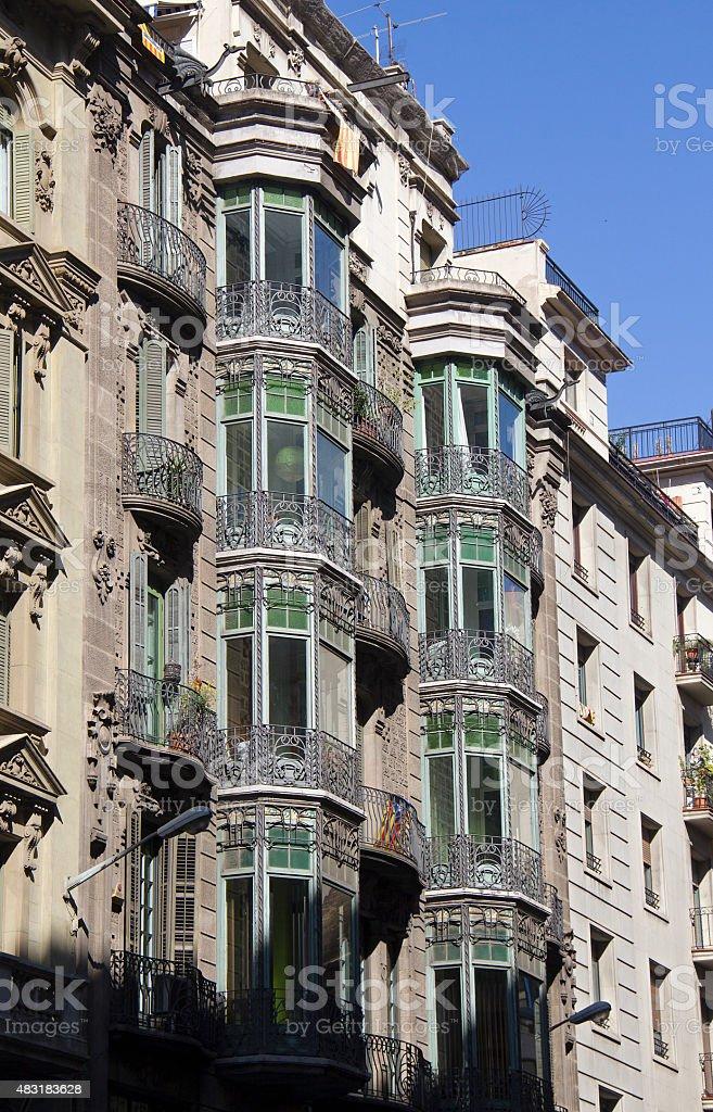 Buildings in Barcelona, Spain stock photo
