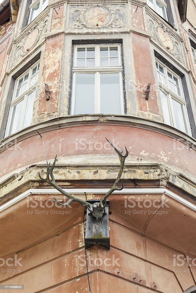 Buildings in Brasov, Romania royalty-free stock photo