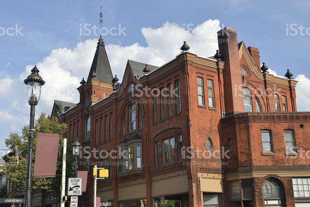 Buildings in Downtown Bellefonte royalty-free stock photo