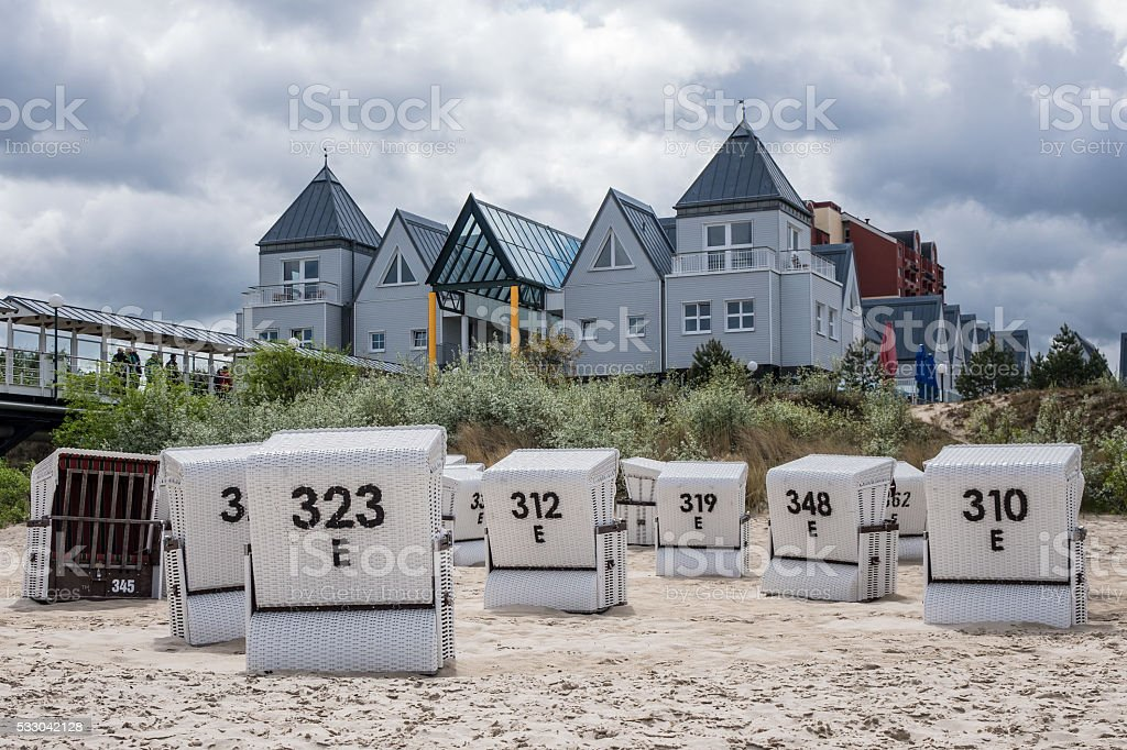 Buildings in Heringsdorf on the island Usedom stock photo