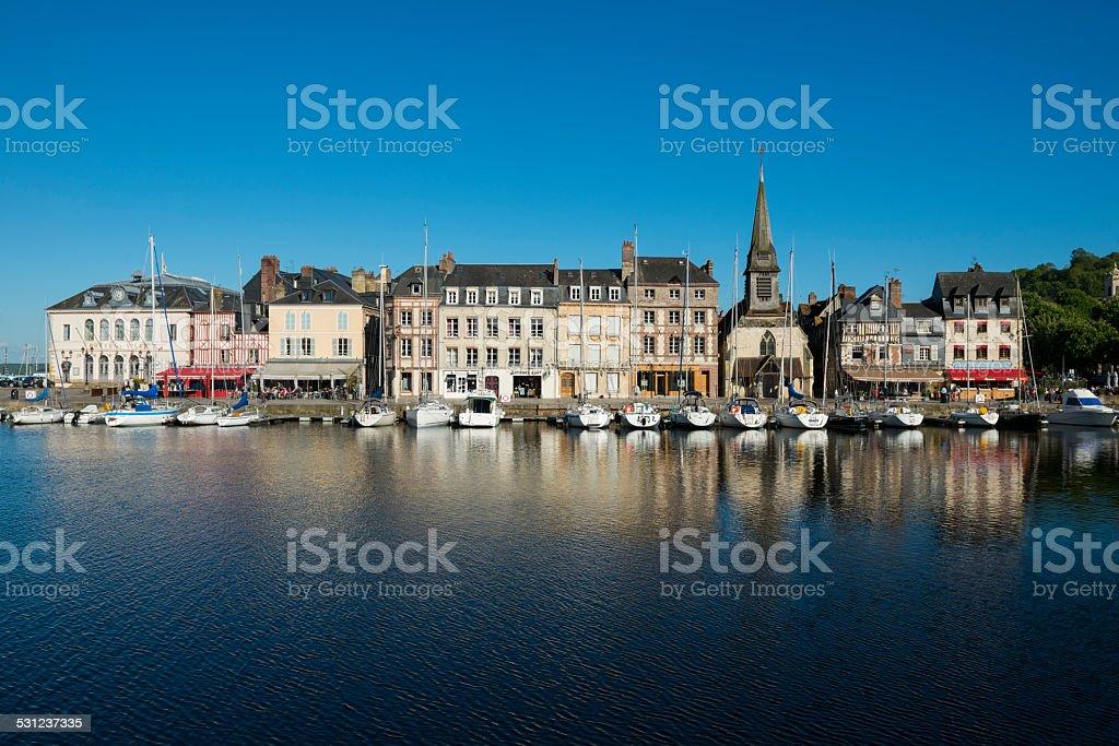 Buildings in Honfleur, France stock photo