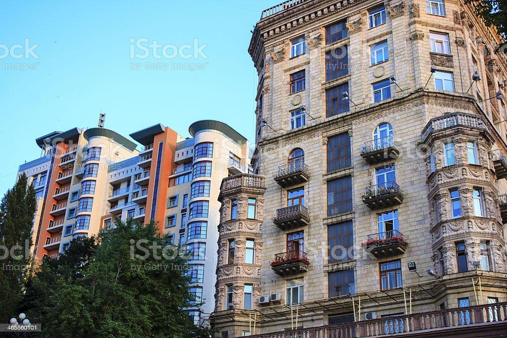 Buildings in Kiev, Ukraine royalty-free stock photo