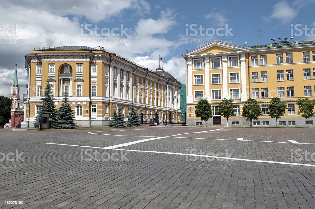 Buildings in Kremlin Moscow Russia stock photo