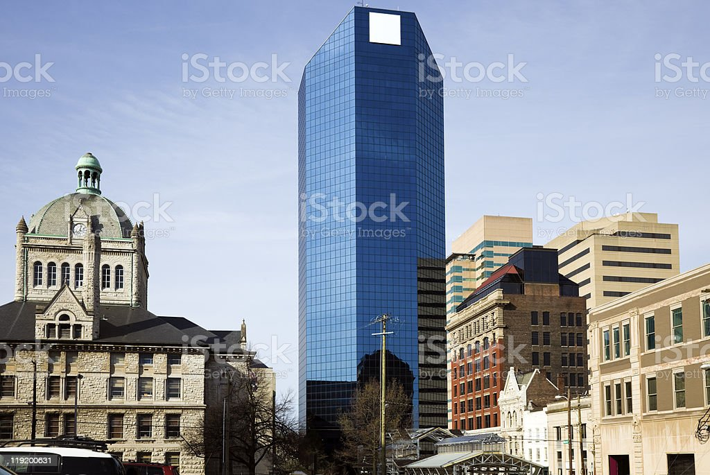 Buildings in Lexington - old and new. stock photo