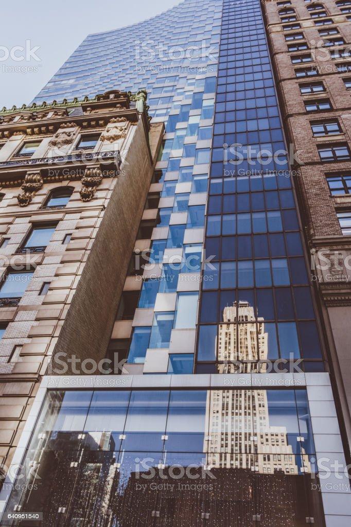Buildings in Manhattan, New York. stock photo
