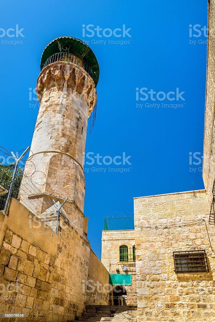 Buildings in Muslim Quarter of Jerusalem stock photo